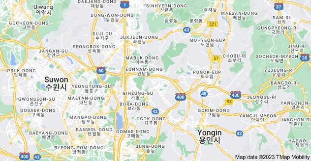 Map of Yongin-si, Gyeonggi-do